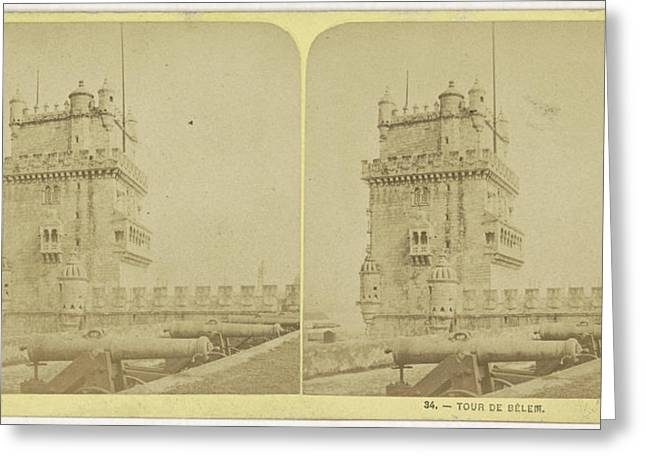 Belém Tower Or The Tower Of St Vincent Is A Fortified Greeting Card by Quint Lox