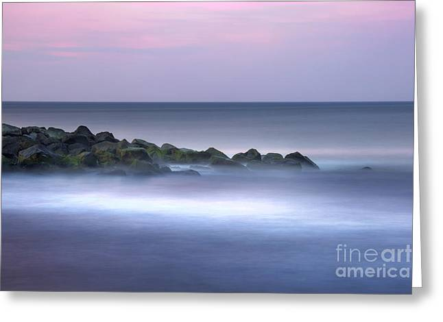 Belmar On The Rocks Greeting Card by Marco Crupi