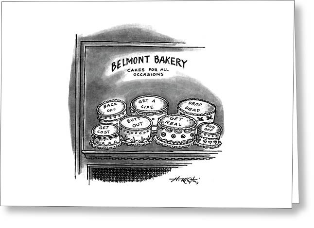 Belmont Bakery Cakes For All Occasions Greeting Card