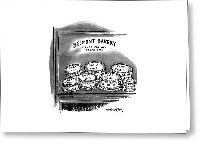 Belmont Bakery Cakes For All Occasions Greeting Card by Henry Martin