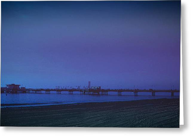 Greeting Card featuring the photograph Belmont Pier by Joseph Hollingsworth