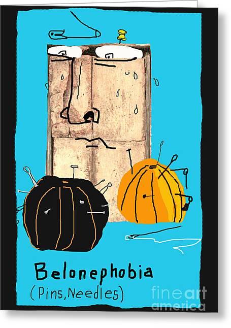 Belonephobia Greeting Card by Joe Jake Pratt