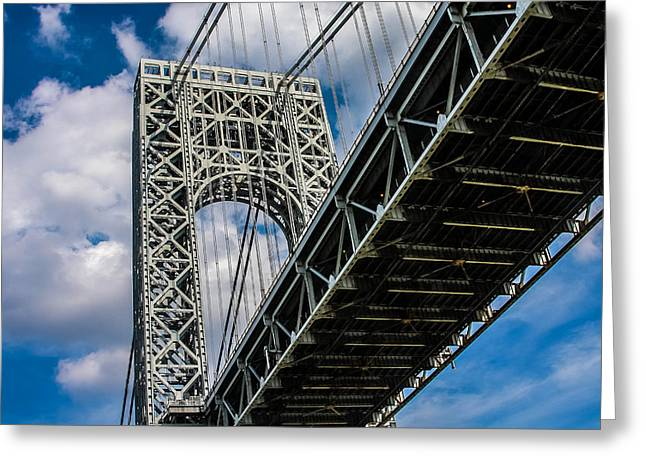 Below The Gwb Greeting Card