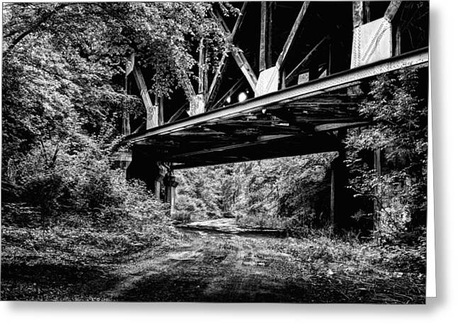 Below The Skyway Greeting Card by JC Findley