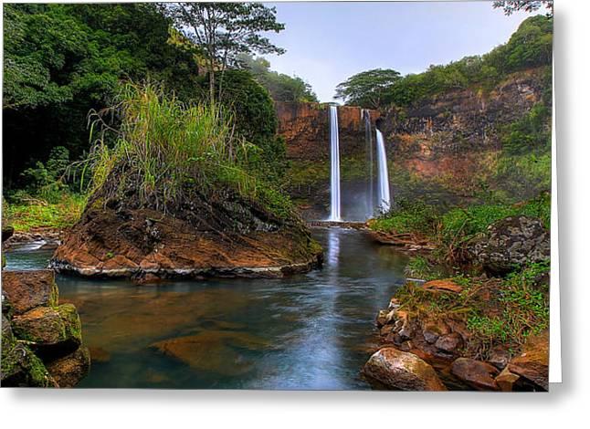Below Wailua Falls Greeting Card
