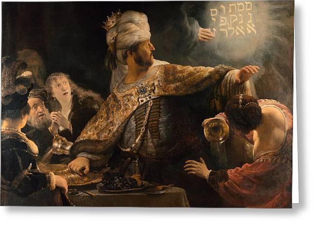 Belshazzar's Feast Greeting Card by Rembrandt van Rijn