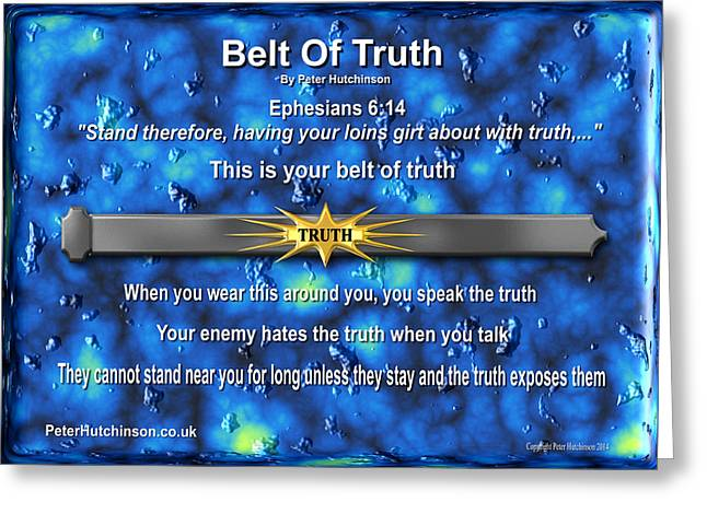 Belt Of Truth Greeting Card