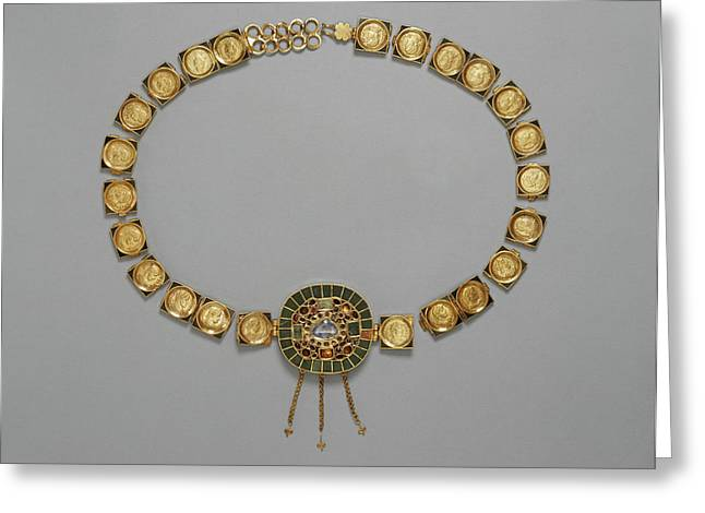 Belt With Central Medallion Unknown Roman Empire About 385 Greeting Card