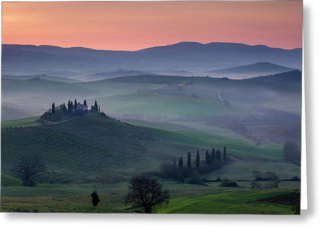 Belvedere And Countryside At Dawn, San Greeting Card by Brian Jannsen