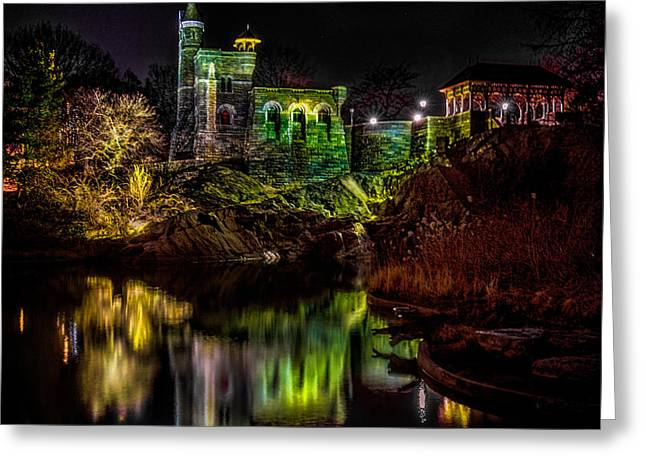 Belvedere Castle At Night Greeting Card