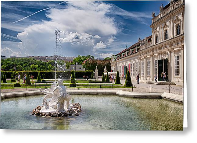 Belvedere Fountains Greeting Card by Viacheslav Savitskiy