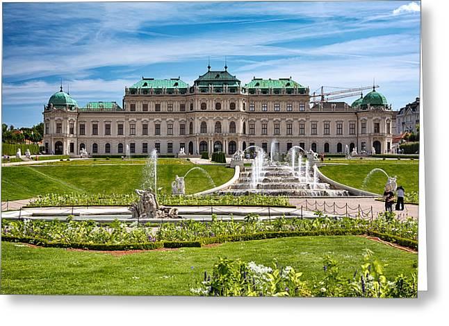 Belvedere Gardens Greeting Card by Viacheslav Savitskiy