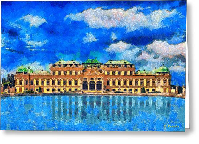Belvedere Palace Greeting Card by George Rossidis