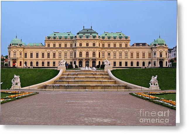 Belvedere Palace In Vienna Greeting Card