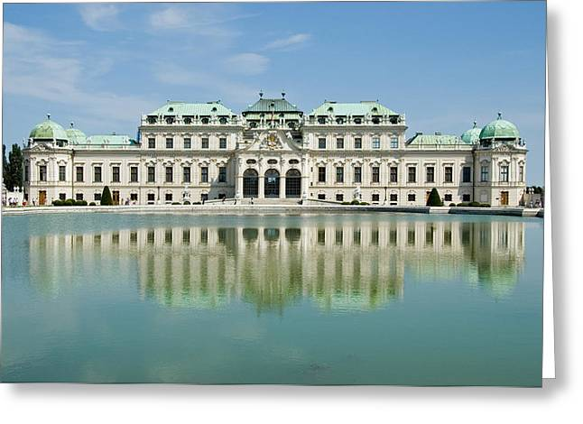 Greeting Card featuring the photograph Belvedere Palace by Jeremy Voisey