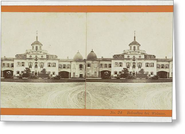 Belvedere Weimar, Germany, H. Selle & E. Linde & Co Greeting Card