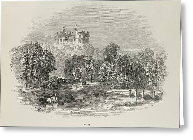 Belvoir Castle Greeting Card by British Library