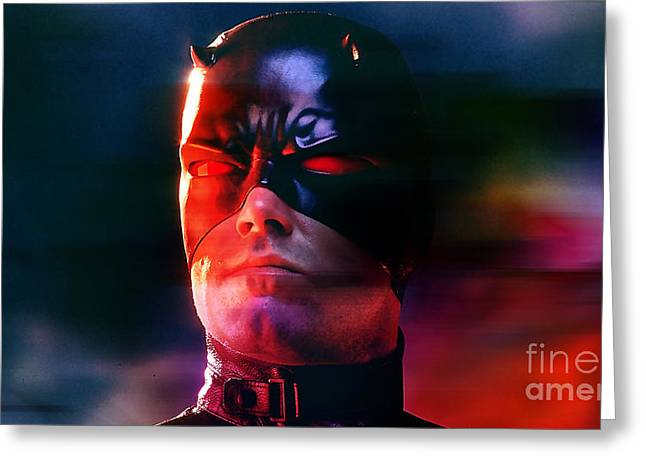 Ben Affleck Daredevil Greeting Card by Marvin Blaine