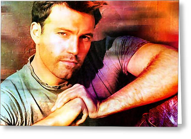 Ben Affleck Greeting Card by Marvin Blaine