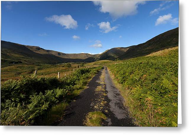 Ben Beg And Road Along The Side Greeting Card by Panoramic Images