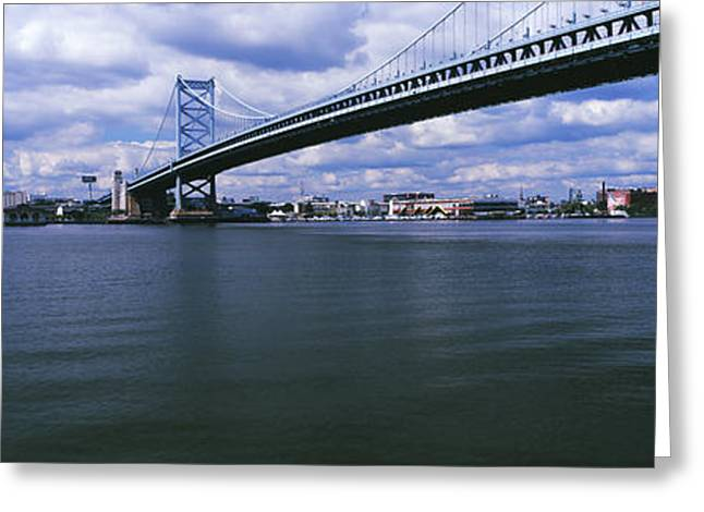 Ben Franklin Bridge Across The Delaware Greeting Card