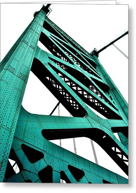 Ben Franklin Bridge Greeting Card
