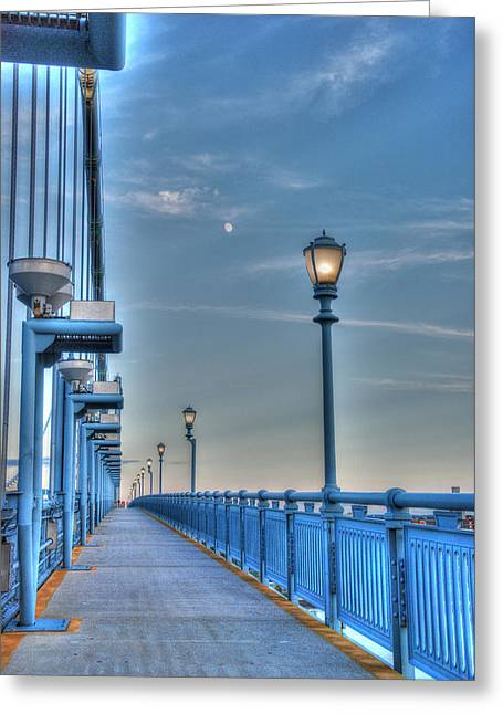 Ben Franklin Bridge Walkway Greeting Card