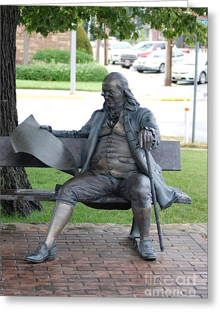 Ben Franklin Statue Greeting Card