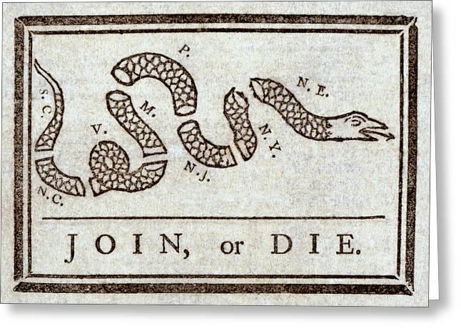 Ben Franklins Plea Greeting Card by Daniel Hagerman