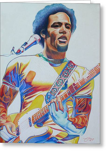 Ben Harper Greeting Card by Joshua Morton