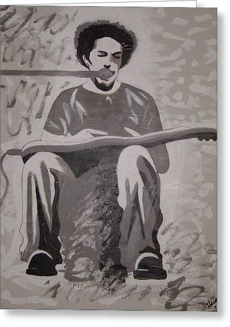 Ben Harper Greeting Card by Stacey Austin