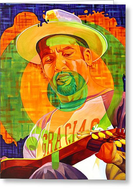 Ben Harper Triad Greeting Card by Joshua Morton