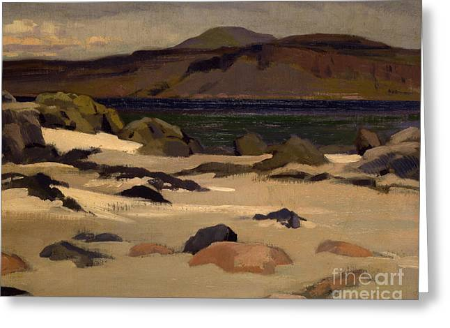 Ben More From Cows Rock Greeting Card by Francis Campbell Boileau Cadell