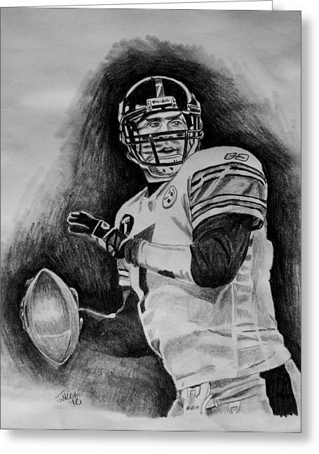 Ben Roethlisberger Greeting Card by Jeremy Moore