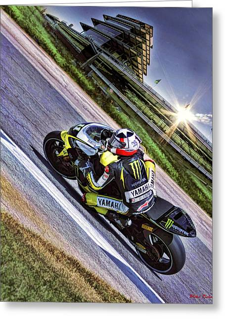 Ben Spies At Indy Greeting Card