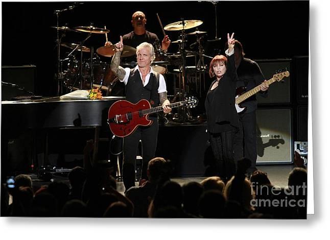 Benatar And Giraldo Greeting Card by Concert Photos
