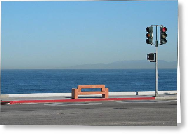 Bench By The Sea Greeting Card