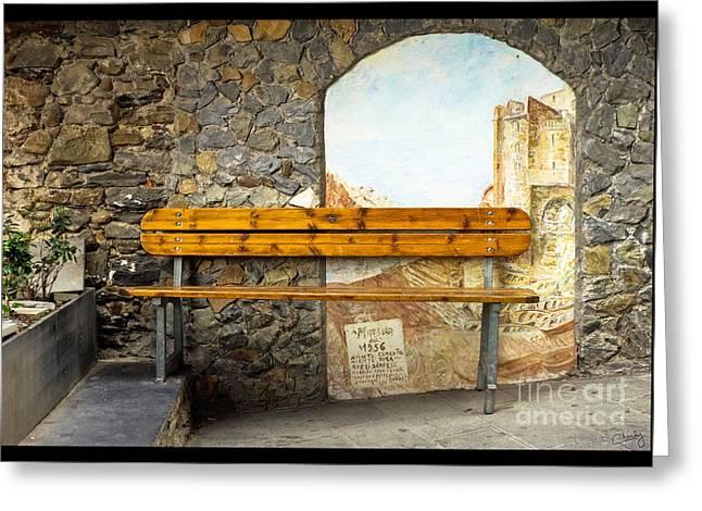 Bench In Riomaggiore Greeting Card