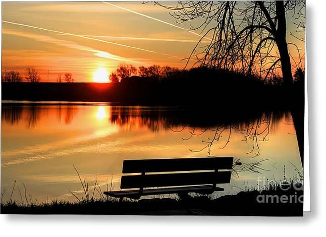 Bench View Greeting Card by Thomas Danilovich