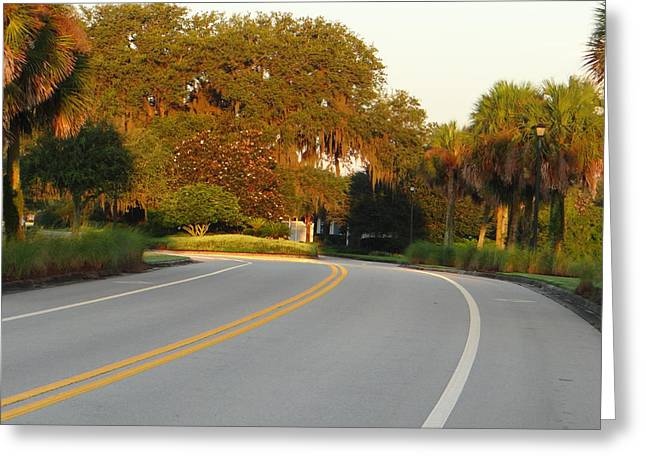 Bend In Road Greeting Card