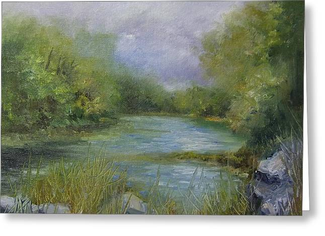 Bend In The River Greeting Card by Donna Pierce-Clark