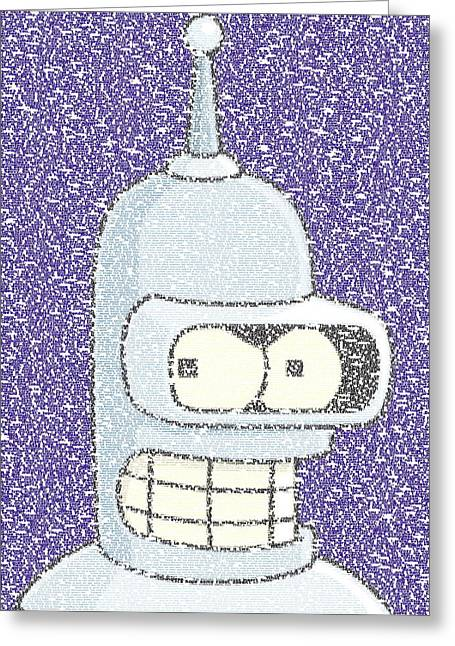 Futurama greeting cards fine art america bender quotes mosaic greeting card bookmarktalkfo Images