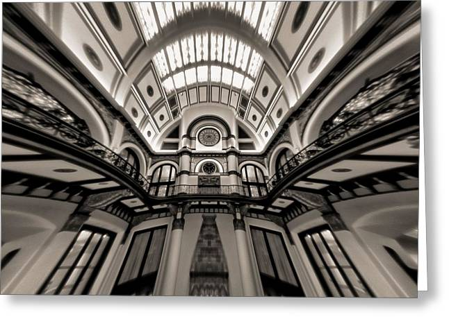 Bending Time In Union Station Greeting Card by Dan Sproul