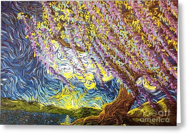 Beneath The Willow Greeting Card by Stefan Duncan