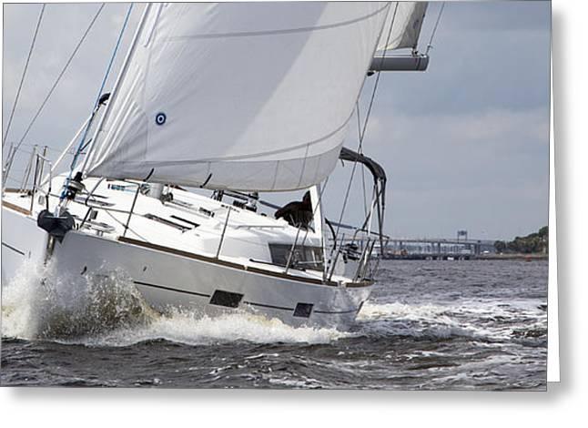 Beneteau Oceanis 45 Hull #1 Sailboat  Greeting Card