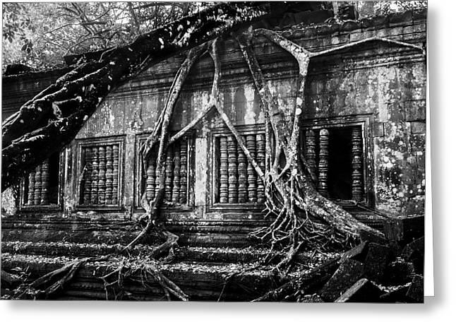 Beng Mealea Ruins Greeting Card by Julian Cook