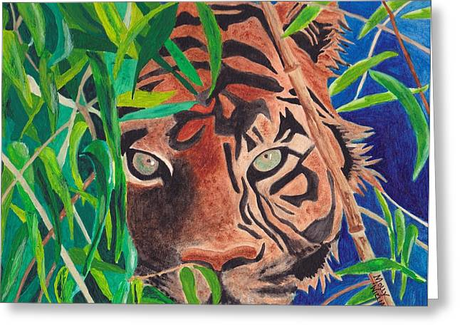Bengal Eyes Greeting Card by Molly Williams
