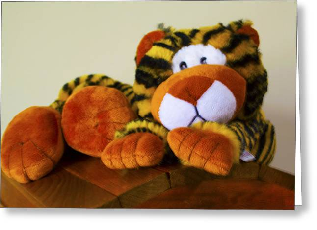 Bengal Tiger Abstract  Greeting Card by Barbara Snyder