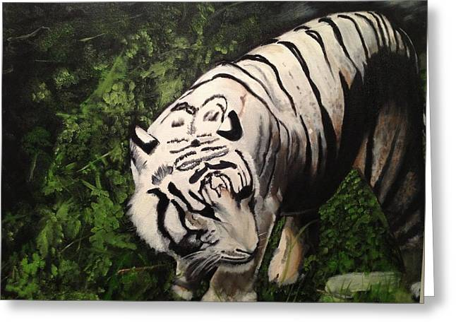 Bengal's White Tiger Greeting Card