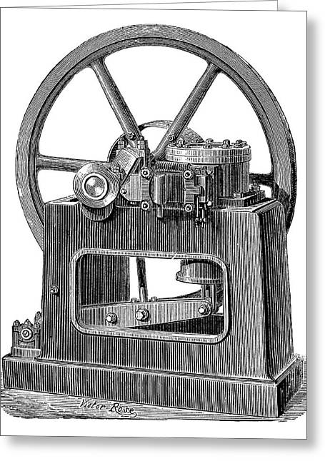 Benier Gas Engine Greeting Card by Science Photo Library
